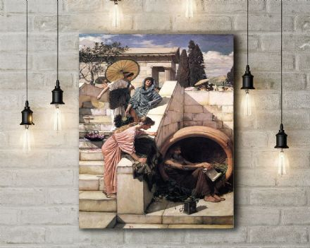 John William Waterhouse: Diogenes. Fine Art Canvas.